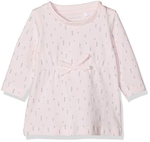 Name IT NOS Baby-Mädchen Kleid NBFDELUCIOUS LS TUNIC NOOS, Rosa (Ballerina), (Herstellergröße: 74)