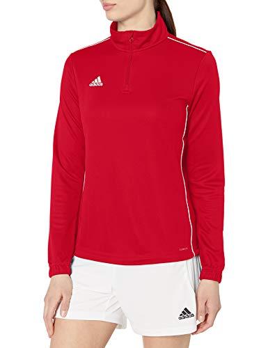 adidas Camiseta de Entrenamiento Core 18 para Mujer, Color Rojo/Blanco, XS
