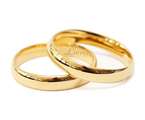 Par de Alianças Casamento Tungstênio Banhada a Ouro 18k