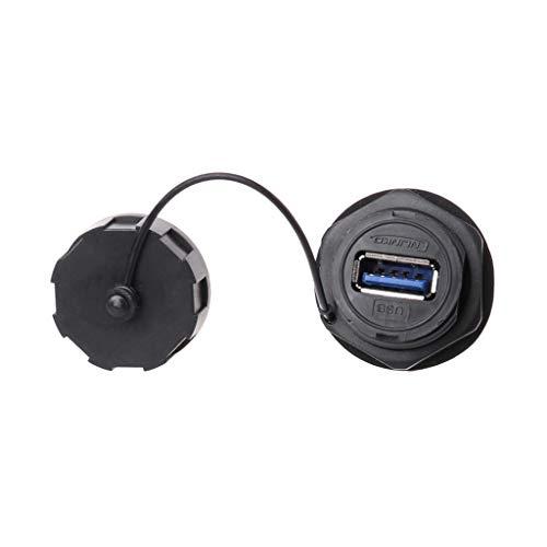 Shenxay USB-Buchse Steckdose Adapter Für Schalttafeleinbau Wasserdichter Anschluss IPL7 Mit Kappe