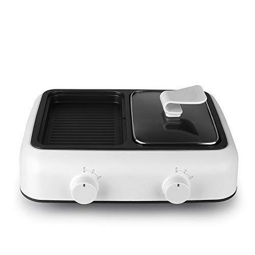 Horno eléctrico, olla eléctrica, mini olla doméstica multiuso de doble uso, frita y hervida 1400w