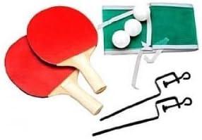 ProDigital tenis mesa color Juego Ping Pong 2raquetas + 3bolas + 2bornes TENDI red + Red de regalo. La Raqueta de ping pong no professionista Ma ligera para un excelente corte excelente para Dilett