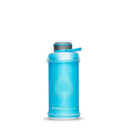 Hydrapak Stash - Collapsible BPA & PVC Free Hiking and Backpacking Water Bottle (750 ml) - Malibu Blue