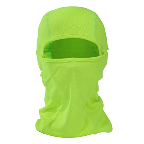Balaclava Windproof Ski Mask Motorcycle Neck Breathable Tactical Hood Travelling Outdoor Sports-Light Green