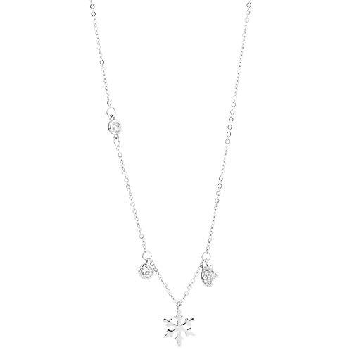Halskette weibliche Fee Schneeflocke Anhänger Schlüsselbein Kette