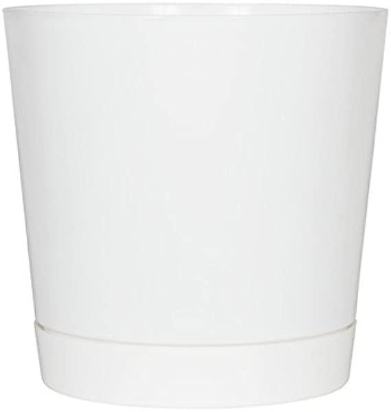 Full Depth Round Cylinder Pot White 12 Inch
