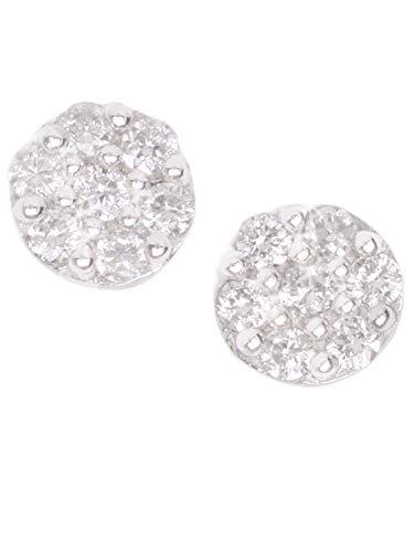 Diamant Ohrstecker Ohrringe Stecker Weißgold Weissgold 585 Gold (14 Karat) Mit Edelstein 0,10ct. Rosette Ø 4mm Brillantohrringe Diamantohrringe Julietta V0011700