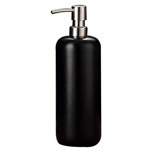 Lege Lotion Fles navulbare Ceramic Zeepautomaat Container Shampoo etherische olie fles for het kantoor aan huis hotel Mall (zwart) Geschikt voor reizen en zakenreizen.