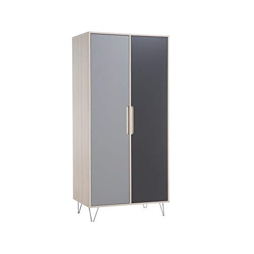 1142S2-GU/AT Armoire 2 portes Marit Acacia/Gris