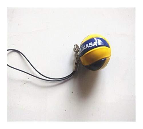 XJS Llavero Regalos de la Playa de vóleibol PVC Llave Clave de la Cadena del Anillo Cadenas de fútbol Playa del Anillo dominante de la Bola de los Hombres joyería Llavero de Único (Color : 4)