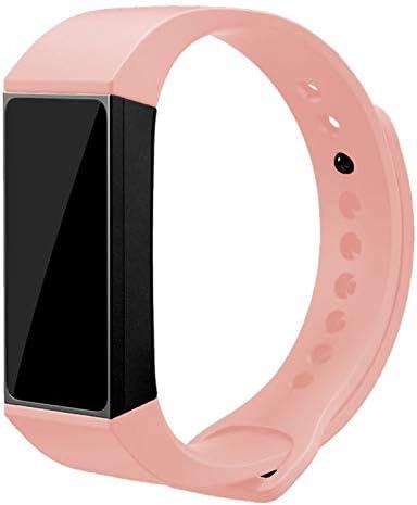 iGlobalmarket Correa de Repuesto, Pulsera de reemplazo Ajustable, Compatible con Xiaomi Mi Band 4C Liso Rosa