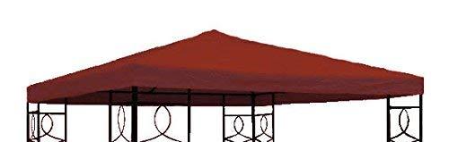 Spetebo Pavillon Ersatzdach 3x3 Meter - rot - wasserdicht - Pavillondach