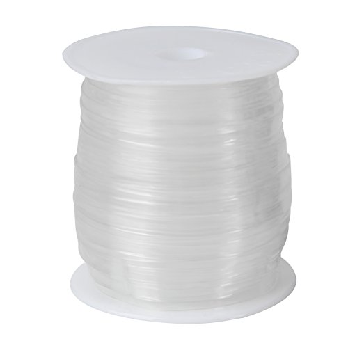 Lightweight Clear Elastic Invisible Stretchy Transparent Elastic Clear Bra Strap Stretchable Adjustable Cord for DIY Shoulder Bra Lingerie Swimwear Dance Cloth Sewing Project 3/8' Wide (11yards)