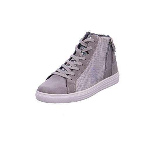 SOCCX Damen High Top Sneaker im Materialmix mit Faux Fur
