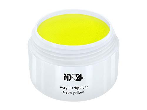 Acryl Farbpulver Neon Yellow Gelb - Feinstes Farb Puder Pulver Powder - Studio Qualität