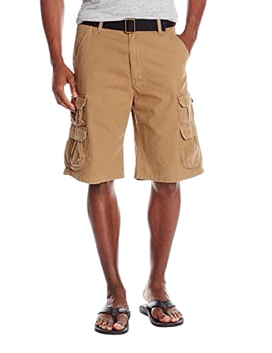 Wrangler Authentics Men's Premium Twill Cargo Short, Acorn Twill, 42