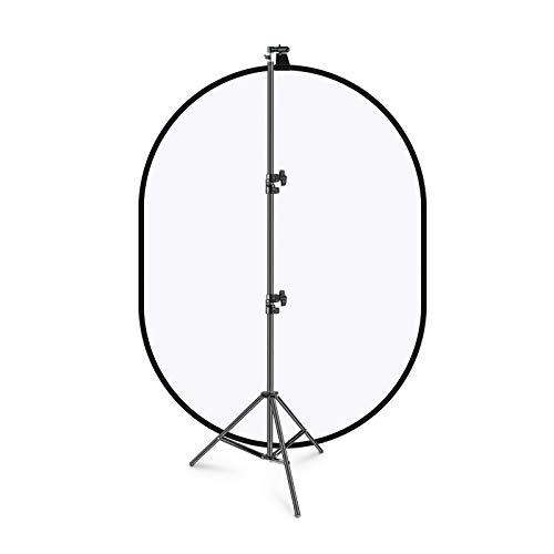 Neewer 150x200cm Chromakey Weich-Weiß Hintergrund mit Stativset: 2-in-1 aufklapp Soft Diffusor mit umkehrbarem Hintergrund für Fotostudios Live-Streaming usw