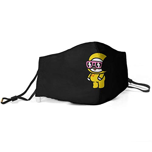 Real life Men Women Adjustable BTS-Chimmy- Kpop Mouth Cover,Reusable Half Face Gas Protection Anti Dust Mouth Mouffle