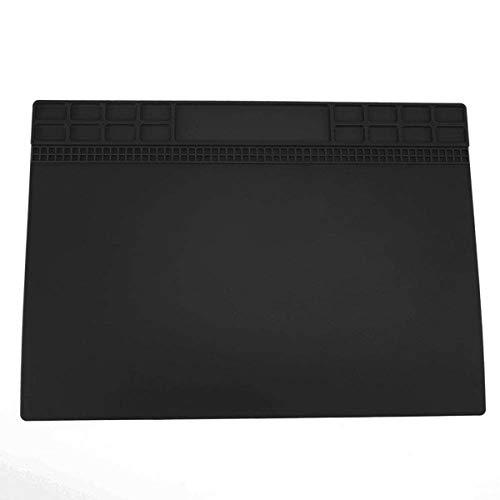 Jinxuny Silikon-Reparaturmatte, Rutschfeste hitzebeständige Lötmatte Telefon-Reparaturmatte, antistatisch, Korrosionsschutz, Elektronik-Reparatur-Silikonmatte für Computer-Handys (Color : Black)