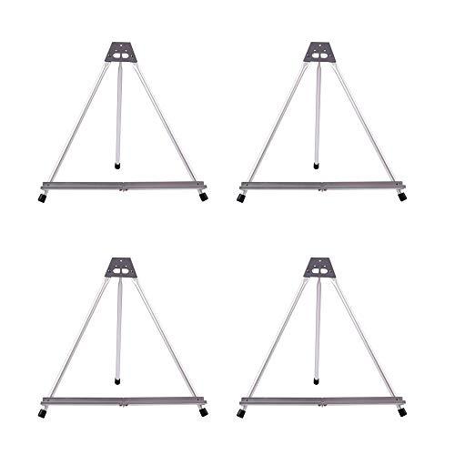 Artecho Caballete de exhibición de Art Easel de mesa, 4 unidades, soporte de trípode de aluminio para pintura, soporte para tablas de lona de hasta 50,8 cm de altura