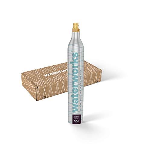 waterworks 1 x Silver CO2-Zylinder I Geeignet für SodaStream u.v.a Wassersprudler I Für bis zu 60 L pro Füllung I Kostenfreier Rückversand bei Zylindertausch