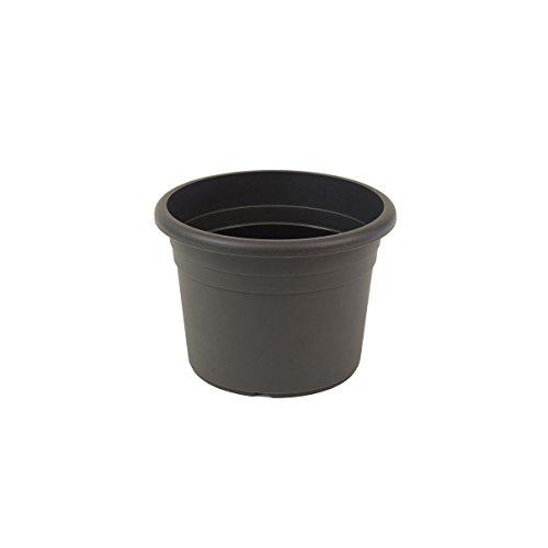 Jardinera greemotion Fiona, maceta de plástico resistente a los rayos UV, maceta con orificios inferiores, volumen aprox. 1 l, aproximadamente Ø 15 x H 10.6 cm
