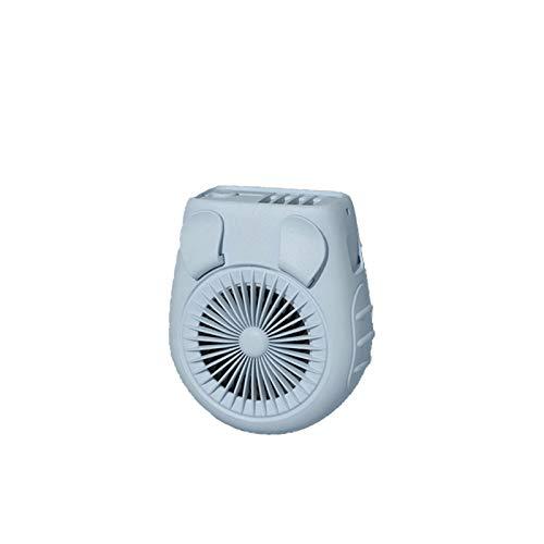 Vast Ventilador montado en la cintura, pequeño ventilador de mano, carga USB, ventilador de cuello, ventilador perezoso, de mano, mini sitio de construcción portátil al aire libre (color: verde)