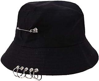 ZHENGDANG Folding Fishing Cap Fisherman Outdoor Cool Unisex Iron Ring Bucket Hat Summer Autumn Solid Color Fishing Sun Hat