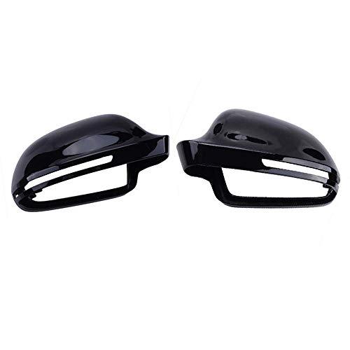 LYYBABY Tapa De Espejo Retrovisor, para Audi B8 A3 A4 A6 S4 RS4 S6 RS6, Accesorios De Automóvil Reemplazo De La Cubierta del Espejo Lateral del ala,Bright Black