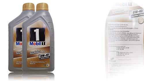 Mobil 1 FS 0W-40 Vollsynthetisches Motoröl 2 Liter
