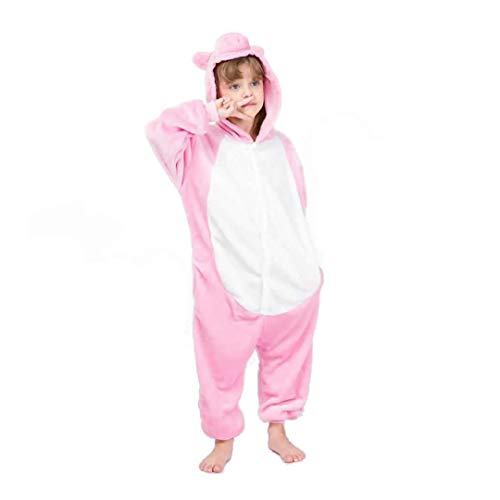 Kinderen Varken Jongens Meisjes Pyjama Onesie Roze Varken Cartoon Dier Cosplay Slaap pak Kostuum