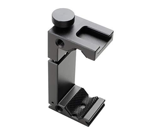 VILTROX スマホクリップ スマートフォン固定 アルミ製 スマホホルダー 金属製ネジ止め コールドシュー付き 縦撮影や録画対応 マイクと同時に取り付け可