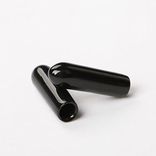 iFlight 10pcs Plastic Protection Antenna Tube with Caps for FRSKY XM XM+ X4R X4RSB S6R/D Series/TF Series IPEX4 Receiver Antenna (Black)
