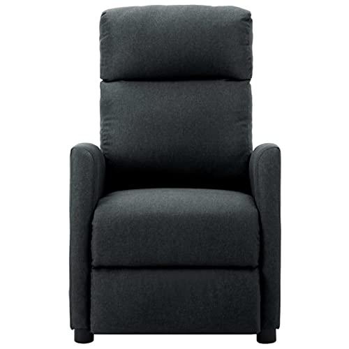 Foecy Sillón de masaje eléctrico, sillón relax eléctrico, sillón de masaje, sillón de masaje para salón, TV, masaje de vibración, 6 puntos, color gris oscuro