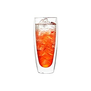 COLOCUP ダブルウォールグラス 二重構造 断熱 保温 保冷 タンブラー 耐熱 ガラスカップ 1個セット (550ML)