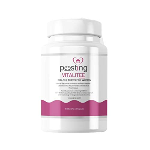 Vitalitee Capsules by Peesting - 10 Billion CFU - Bio Cultures for Women - Special Strains for Intimate Health - Support Vaginal Health - Vegan & No Dairy - 30 Capsules