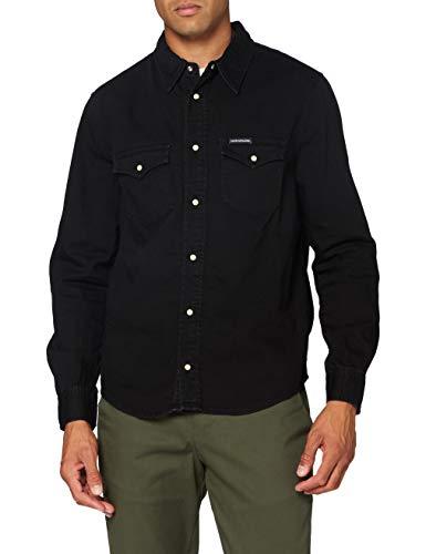 Calvin Klein Jeans Herren Modern Western Shirt Hemd, Denim, XXL