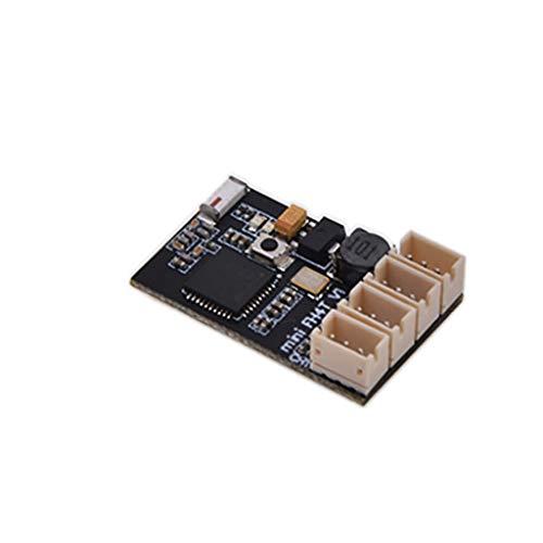 Moent AGFRC ARX-472s kompatibler FH3 FH4 4-Kanal-Oberflächenempfänger kompatibel mit RC-Rennwagen, Messinggewicht