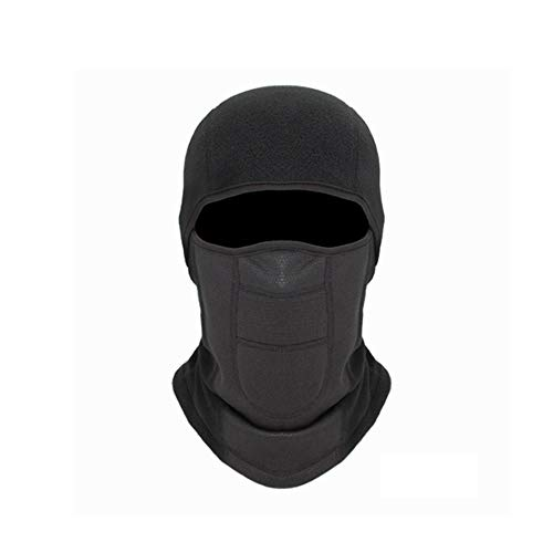 Windproof Balaclava Fleece Hood Face Mask Cycling Hat Cold Resistance Ski Mask Winter Hat for Men Women,Winter Neck Warmer Windproof Cap for Skiing & Snowboarding Face Mask Black