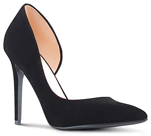 W-boll Heeled Sandals Kmart Woman Pointy Toe Low Platform Sandals Stiletto Dress Pumps-Little Girls Sandals Black
