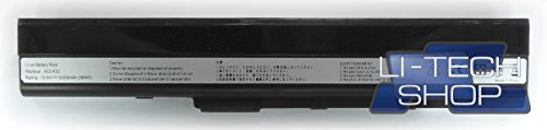LI-TECH - Batería Compatible 5200 mAh para ASUS X52J-SX480V 6 Celdas de Repuesto 57 WH 5,2 Ah