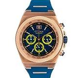 Otumm Big Date BDRG45006 - Reloj cronógrafo unisex con correa de silicona azul (45 mm)