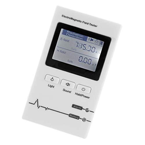 SYXZ Tragbares professionelles Hand-EMF-Messgerät, Detektor für elektromagnetische Strahlung, Strahlungstester,Weiß
