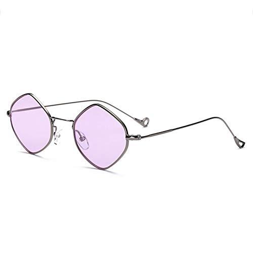 YIERJIU Gafas de Sol Gafas Gafas de Sol poligonales de pequeño tamaño Marca de Moda para Mujer Gafas de Sol hexagonales de Doble Marco Gafas graduadas uv400,17