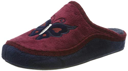 Manitu Home 330165, Chaussons Mules Femme, Rouge (Rot 41)