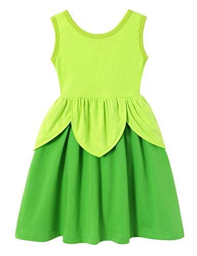 Cotton Baby Girl Clothes Summer Little Princess Toddler Kids Party Tutu Dresses (C14 Size 6 7)