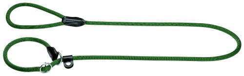 HUNTER Freestyle Retrieverleine, integrierter Halsung, robust, wetterfest, 1,0/170 cm, olivgrün