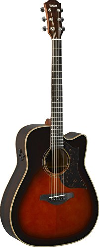 Yamaha 6 String Series A3R Cutaway Acoustic-Electric Guitar-Rosewood, Tobacco Sunburst, Dreadnought TBS