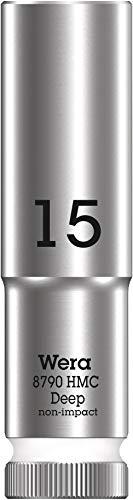 """Wera 05004555001 8790 HMC Deep Steckschlüsseleinsatz 1/2"""", Weiß, 15.0 mm"""