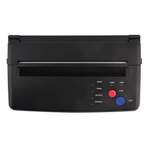 Tattoo Transfer System Drucker Zeichnung Thermal Stencil Maker Kopierer für Tattoo-Umdruckpapier-Versorgungsmaterial Permanet Fabrikat,Schwarz